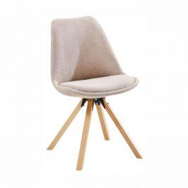 Židle, béžová/buk, SABRA