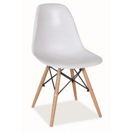 Jídelní židle v bílé barvě KN166