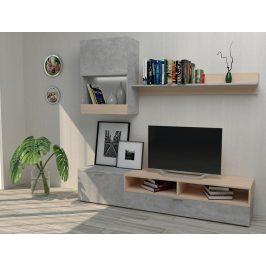 Obývací stěna MINI antracit/dub sonoma