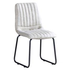 Jídelní čalouněná židle MERANO světle šedá/černá