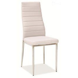 Jídelní čalouněná židle HRON-261 sv. béžová/chrom
