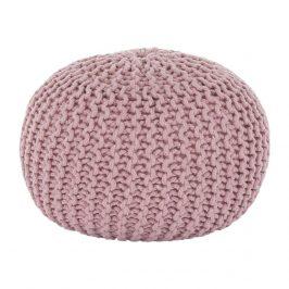 Pletený bavlněný taburet pudrově růžové barvy TYP 2 TK264