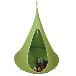Závěsné houpací křeslo, zelená, KLORIN NEW BIG SIZE CACOON HAMMOCK