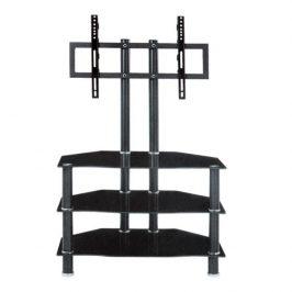 TV stolek v luxusním skleněném provedení černá ROSS