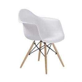 Designové trendy křeslo v kombinaci dřeva buk a bílé barvy TK190 Židle do kuchyně
