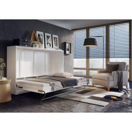 Výklopná postel 90 cm v bílém lesku typ CP 06P KN632