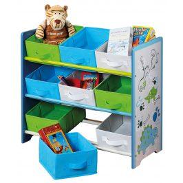 Dětský regál s 9 úložnými boxy, E195