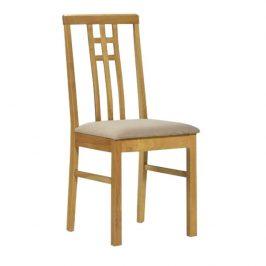 Jídelní židle, dub sonoma/látka krémová, SILAS Židle do kuchyně