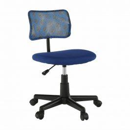 Otočná židle, modrá / vzor / černá, PERCY