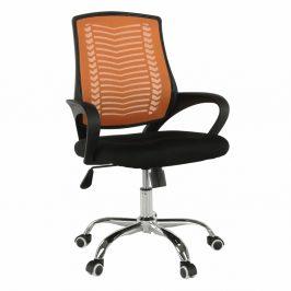 Kancelářské křeslo, oranžová / černá / chrom, IMELA TYP 2