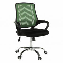 Kancelářské křeslo, zelená / černá / chrom, IMELA TYP 2