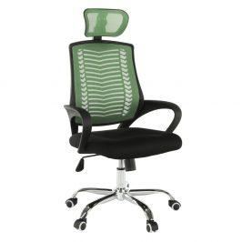 Kancelářské křeslo, zelená / černá / chrom, IMELA TYP 1