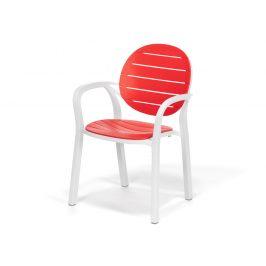 Plastová židle DT076 červená - II. jakost