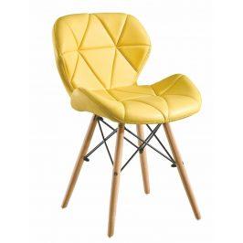 Jídelní židle BOSSE žlutá Židle do kuchyně