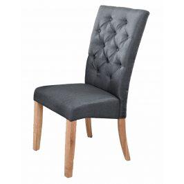 Jídelní čalouněná židle v šedé barvě KN416