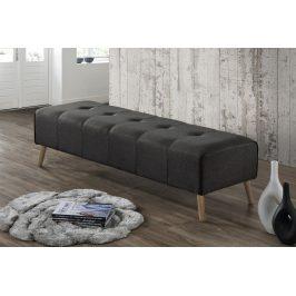 Velký čalouněný taburet v šedé barvě KN415