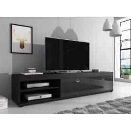 Televizní stolek NOVEL černá/černý lesk