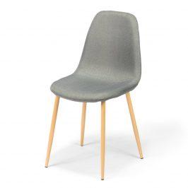 Jídelní židle DT410 šedá/hnědé nohy