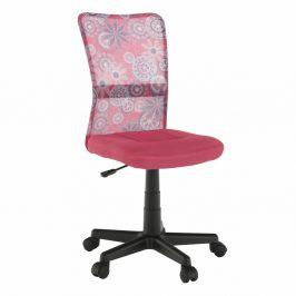 Otočná židle, růžová/vzor/černá, GOFY