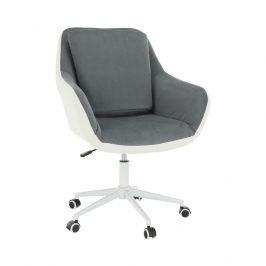 Kancelářské křeslo, bílá/šedá, IMELDA