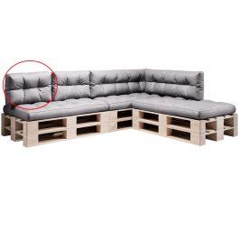 Polštář na paletové sezení, šedá, ANIKA TYP 3