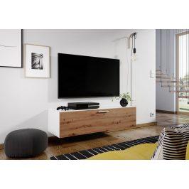 Televizní stolek ALABAMA bílá/dub artisan
