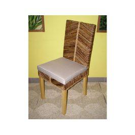 Jídelní židle Monte-banánový list-borovice
