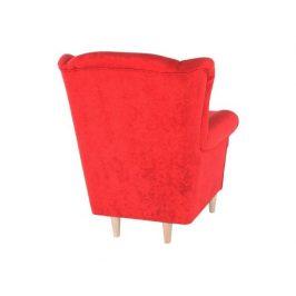Křeslo s taburetem Porterie, látka červená