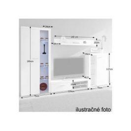 Obývací stěna Sartoria, bílá