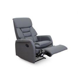 Relaxační křeslo Komfy, textilní kůže, šedá Křesla