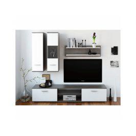 Obývací stěna Vani, dub truflový / bílá