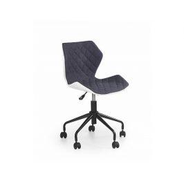 Dětská židle Matrix, bílo-šedá