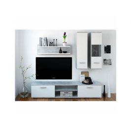 Obývací stěna Vani, beton / bílá