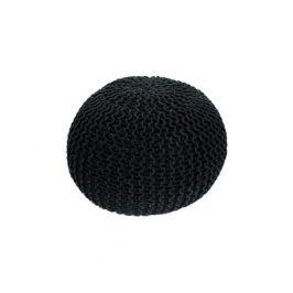 Pletený taburet Mercerie 1, bavlna černá