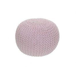 Pletený taburet Mercerie 1, bavlna pudrově růžová