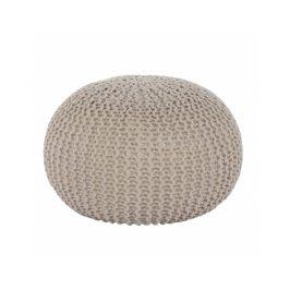 Taburet Soppalco, bavlna smetanově béžová