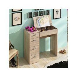 Toaletní stolek Glasing, dub sonoma