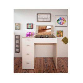 Toaletní stolek Glasing, dub sonoma / bílá