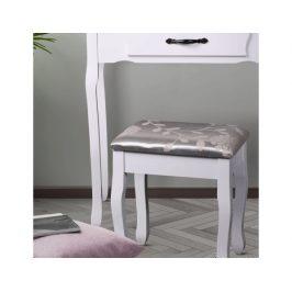 Toaletní stolek s taburetem Mealyer, bílá