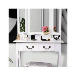 Toaletní stolek s taburetem Breezway, bílá