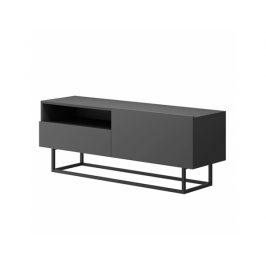 RTV stolek bez podstavy Roulotte 2, grafit Stolky pod TV