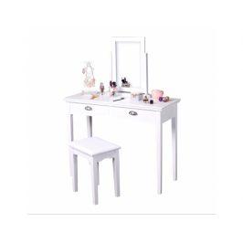 Toaletní stolek s taburetem Wryer, bílá