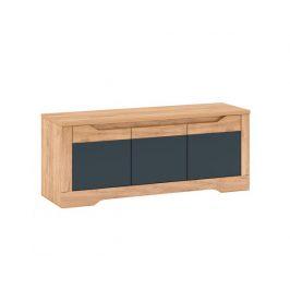RTV stolek Fency J, dub craft zlatý / grafit