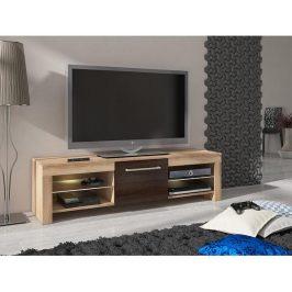 TV stolek Flex, wenge / krémová