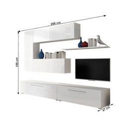 Obývací stěna ARIZONA, bílá/bílý extra vysoký lesk HG