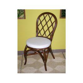 Ratanová jídelní židle HARLINGEN - tmavá