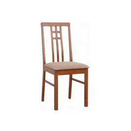 Židle SILAS, tmavý dub, látka krémová
