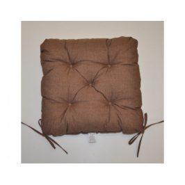 Sedák na židli 40x40 cm - hnědý melír