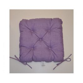 Sedák na židli 40x40 cm - fialový melír
