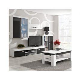 Obývací stěna Mamba bílá-černý lesk
